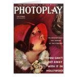 Carte silencieuse d'actrice d'écran de Norma Talma
