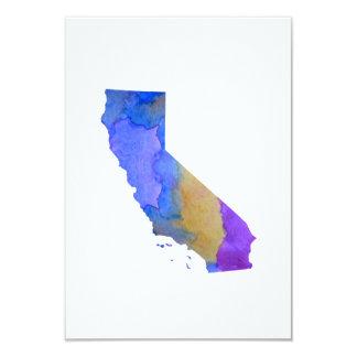 Carte Silhouette colorée de la Californie