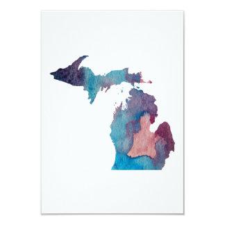 Carte silhouette colorée du Michigan