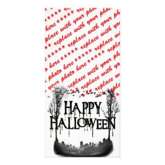 Carte Silhouette de scène de cimetière de Halloween