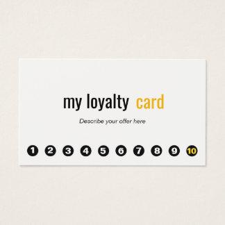Carte simple de fidélité de client de poinçon du