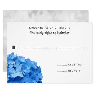 Carte simple de l'hortensia bleu lumineux RSVP Carton D'invitation 8,89 Cm X 12,70 Cm