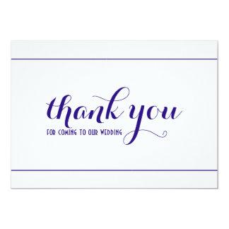 Carte simple et élégante de bleu royal de Merci de