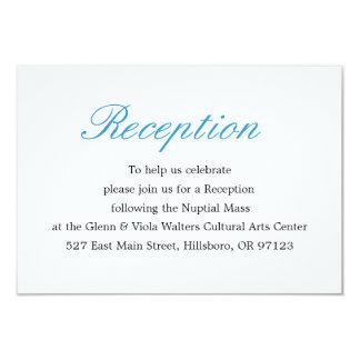 Carte simple et élégante de réception carton d'invitation 8,89 cm x 12,70 cm