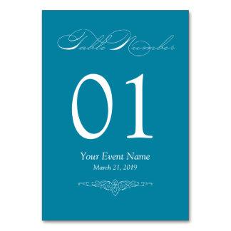 Carte simple et élégante turquoise de Tableau