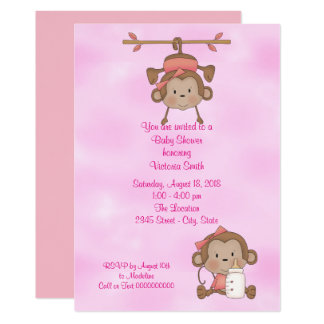 Carte Singe de bébé de baby shower