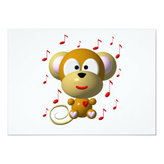 Carte Singe musical