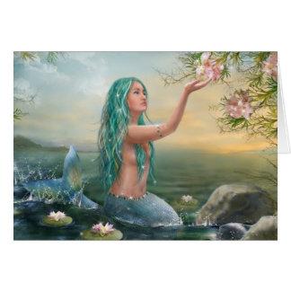 """Carte """"sirène Ariel """""""