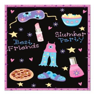 Carte Sleepover de soirée pyjamas de meilleurs amis