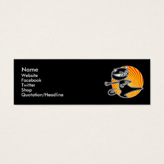Carte sociale de médias de chat de Ninja