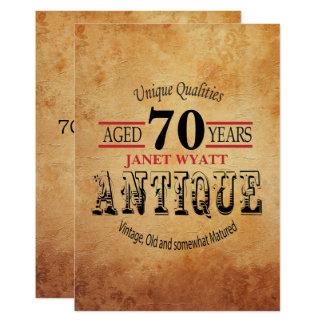 Carte Soixante-dixième anniversaire d'antiquité