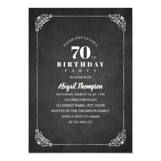 Carte Soixante-dixième fête d'anniversaire d'adulte