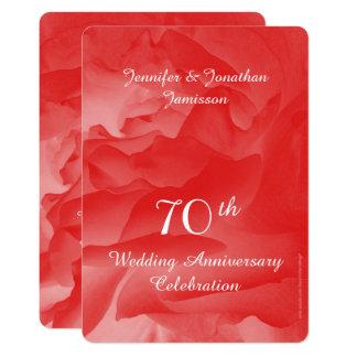Carte soixante-dixième L'invitation de fête