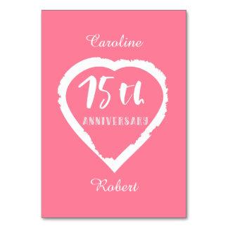 Carte soixante-quinzième coeur d'anniversaire de mariage