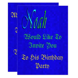 Carte Son anniversaire de Noah, personnalisent cette