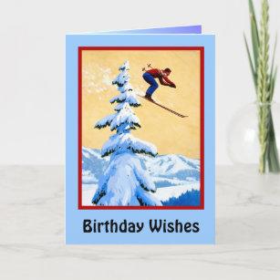 Carte Anniversaire Skieur.Carte Souhaits D Anniversaire Sauter De Ski