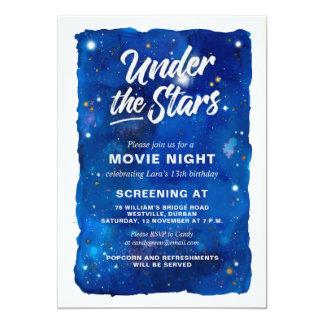 Carte Sous l'invitation de soirée cinéma d'étoiles
