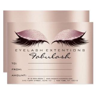 Carte SPA de cadeau de certificat de maquillage de rose