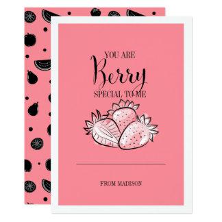 Carte spéciale de Valentine de fruit de baie drôle