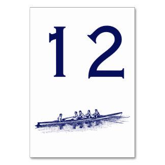 Carte Sports aquatiques bleus d'équipe d'équipage de