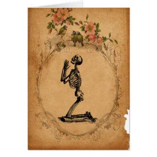 Carte squelettique d'agenouillement