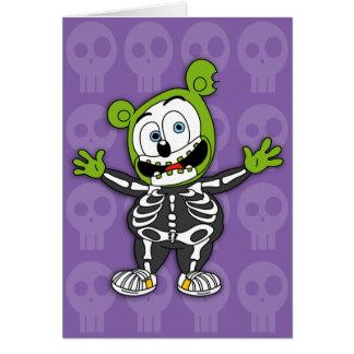 Carte squelettique de Gummibär Halloween