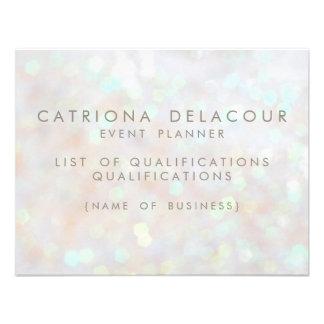 Carte subtile blanche des employés d'affaires de B Invitations Personnalisables