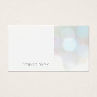 Carte subtile minimaliste de rendez-vous de spa de