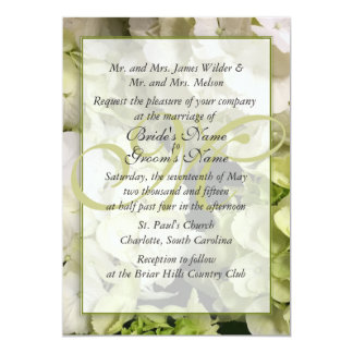 Carte Suite verte blanche de mariage d'hortensia