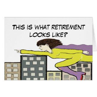 Carte superbe de retraite
