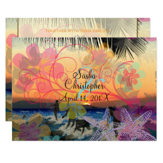 CARTE SURFERS À SUNSET/HAWAII/DIY INVIATIONS