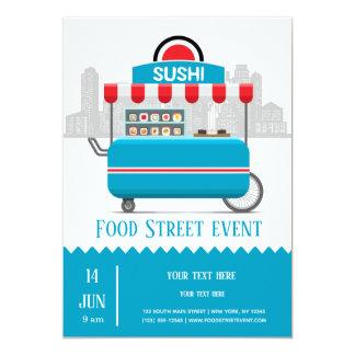 Carte Sushi de nourriture de rue