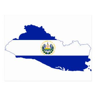 Carte SV de drapeau du Salvador