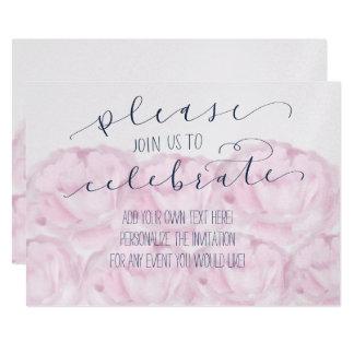 Carte Svp joignez-nous pour célébrer la calligraphie et