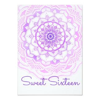 Carte Sweet sixteen de Bohème tribal de pourpre de
