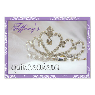 Carte sweet sixteen ou partie pourpre de quinceañera