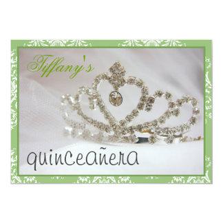 Carte sweet sixteen ou partie vert de quinceañera
