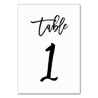 Carte Tableau chic noir 1 du numéro | de table de