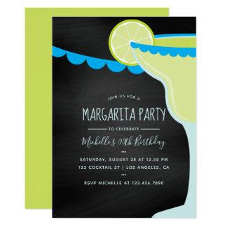 Carte Tableau de cocktail d'anniversaire de margarita