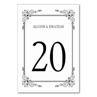 Carte Tableau fleuri noir et blanc vintage   de remous