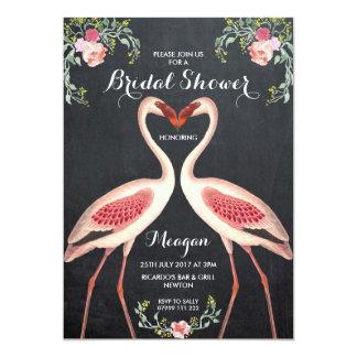 Carte Tableau nuptiale d'invitation de flamant de douche
