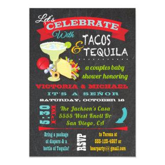 Carte Tacos de tableau et baby shower de couples de