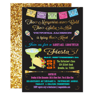 Carte Tacos et fiesta nuptiale de Mexicain de douche de