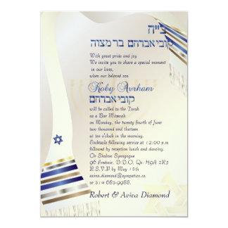 Carte Talit de PixDezines/barre élégante Mitzvah/or