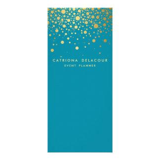 Carte | Teal de support d'affaires de confettis de