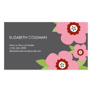 Carte/télécarte modernes de maman de fleurs modèle de carte de visite