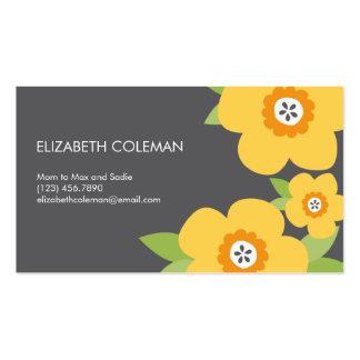 Carte/télécarte modernes de maman de fleurs cartes de visite professionnelles