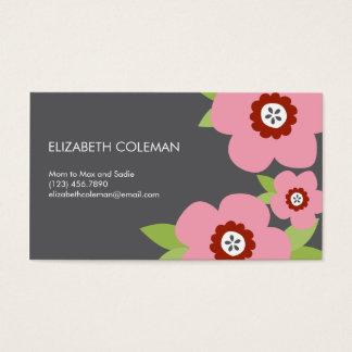 Carte/télécarte modernes de maman de fleurs cartes de visite