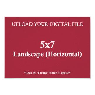 Carte Téléchargez votre propre conception 5 x 7 avec les