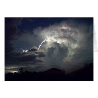 Carte - tempête de foudre